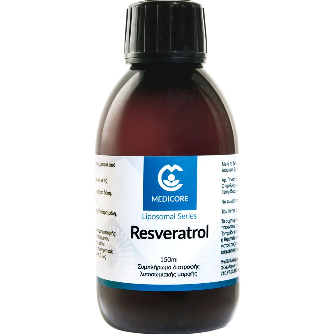 Resveratrol 200mg MediCore® Λιποσωμιακή Ρεσβερατρόλη 150ml