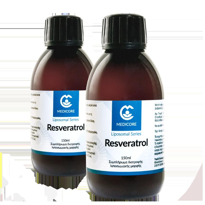 1+1 ΔΩΡΟ MediCore Liposomal Resveratrol 200mg 150ml