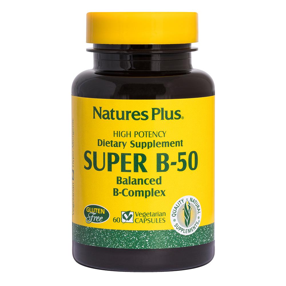 Natures Plus SUPER B-50 COMPLEX 60Caps