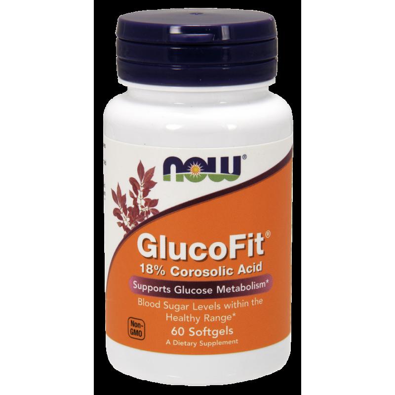 NowFoods® GLUCOFIT® 18% Corosolic Acid - 60 Softgels