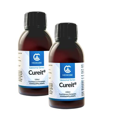 1+1 ΔΩΡΟ MediCore Cureit® Λιποσωμιακή Φόρμουλα Κουρκουμά 150ml