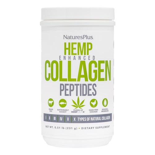 Natures Plus Hemp Enchanced Collagen Pep