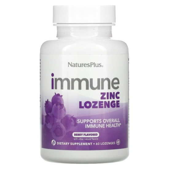 Natures Plus Immune Zinc Lozenge 60Caps
