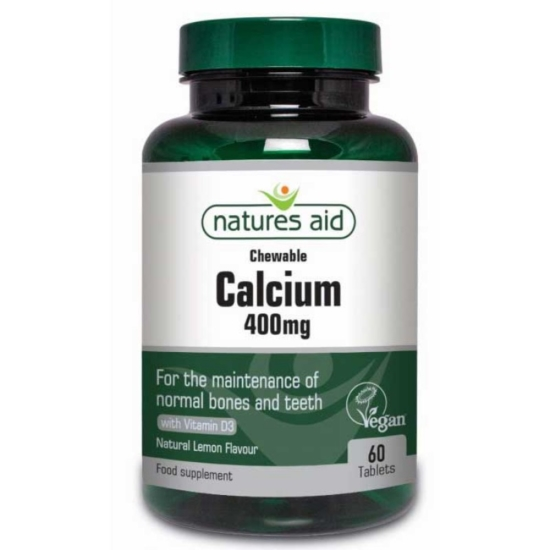 Calcium 400mg Chewable - 60 Μασώμενες Τα
