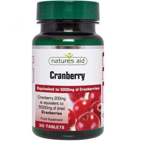 Cranberry 200 mg - 30 ταμπλέτες Natures