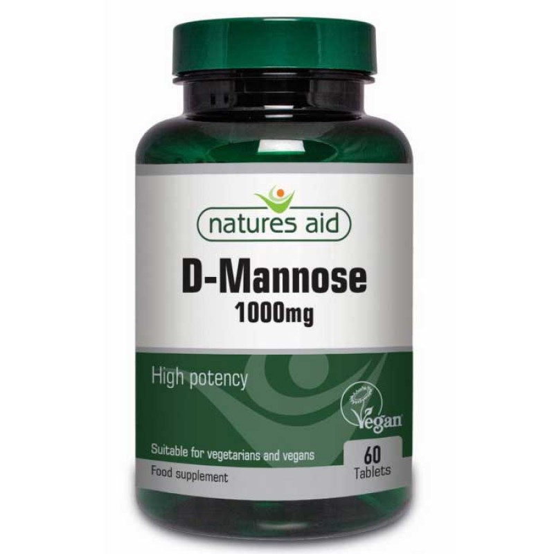 D-Mannose 1000mg 60 tabs - Natures Aid