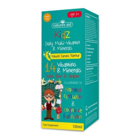 Natures Aid Kidz Multi-Vitamin & Min
