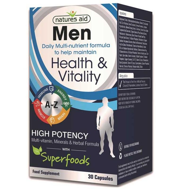 Natures Aid Men Multi Vitamins & Minerals 30Caps