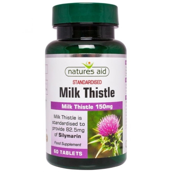 Natures Aid Milk Thistle 150mg 60Tabs