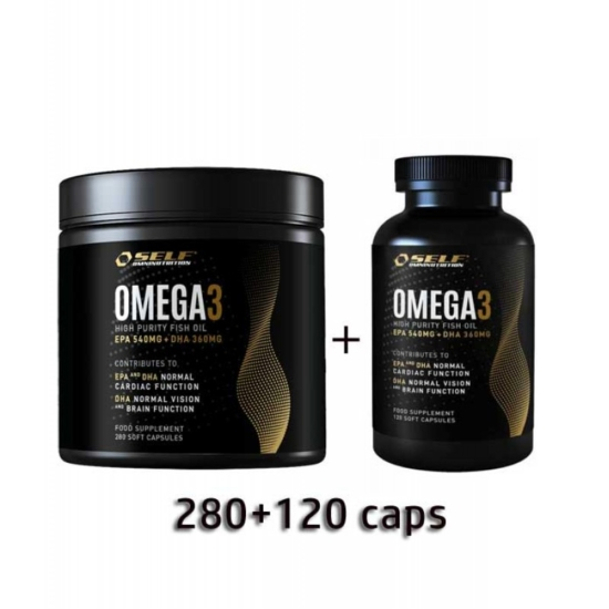 Omega 3 Fish Oil Self 280 caps + 120 cap