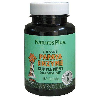 Natures Plus Papaya Enzyme 180 Tabs