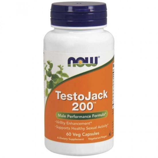 Now Foods Testo Jack 200™, 200 mg W/ Ton