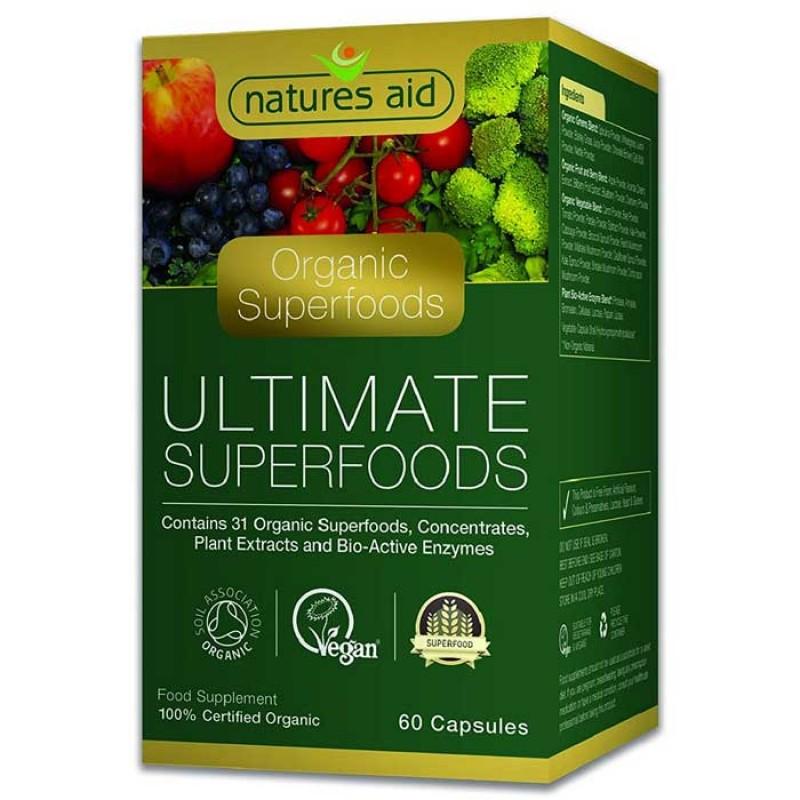Organic Ultimate Superfoods 60 κάψουλες Natures Aid / Υπερτροφές