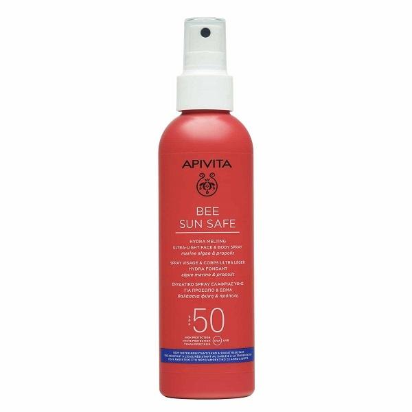 Apivita Bee Sun Safe Ενυδατικό Spray Ελαφριάς Υφής Για Πρόσωπο & Σώμα με SPF50 200ml
