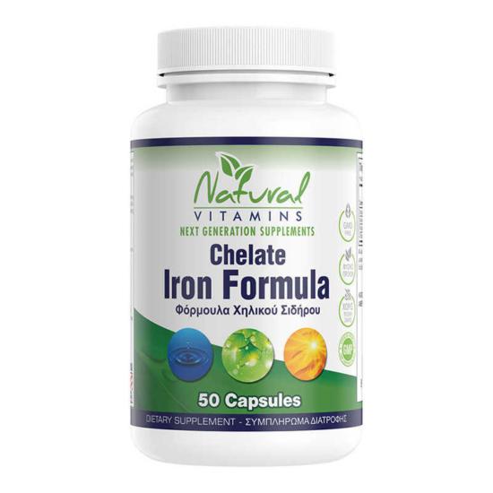 Natural Vitamins Iron Chelate Formula 50