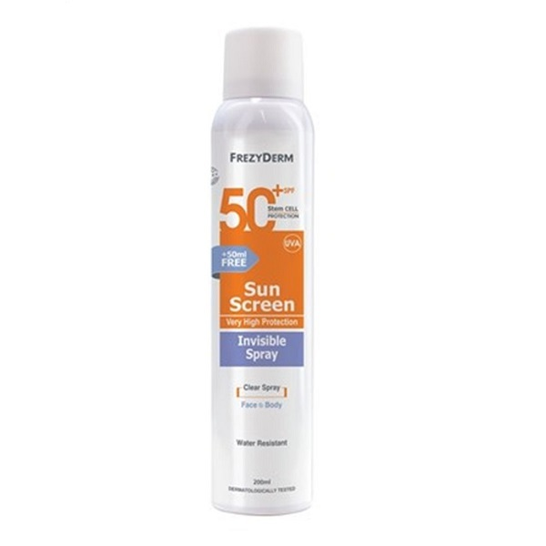 Frezyderm Sunscreen Invisible Spray SPF 50  200ML