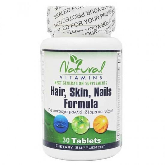 Natural Vitamins Hair, Nail & Skin C