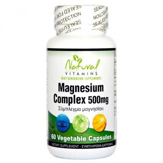 Natural Vitamins Magnesium 500mg 60caps