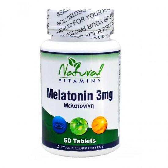 Natural Vitamins Melatonin 3mg - Μελατον