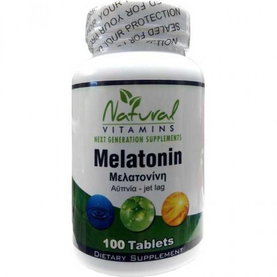 Natural Vitamins Melatonin 1 mg - Μελατο